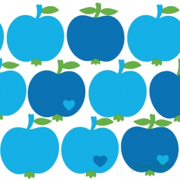 Lunchservett Tissue 33x33cm Apples Blue i gruppen Handla efter rekommendation / Designs for Duni / byGraziela hos Duni AB (177642)