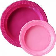Plasttallrik Colorix Hot pink 20st