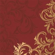 Lunchservett Grace bordeaux 33x33cm 20st