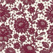 Kaffeservett Elegant Lace Cranberry Red 24x24cm 20st