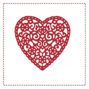 Kaffeservett Lace Heart 24x24 20st
