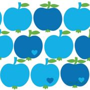 Lunchservett Apples Blue 40x40cm 20st