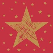 Kaffeservett Shining Star red 24x24 20st