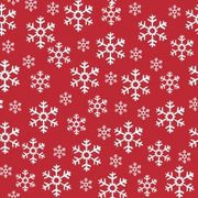 Lunchservett 3-lagers Red Snowflakes 33x33cm