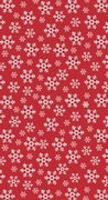 Duk Dunicel Red Snowflakes 1,38x2,2m