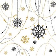 Middagsservett Dunilin Snow Necklace white 40x40cm