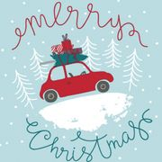 Lunchservett 3-lagers Christmas Car 33x33cm