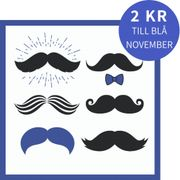 Lunchservett 3-lagers Mustaches 33x33cm
