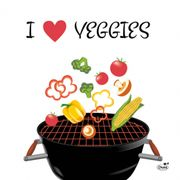 Lunchservett 3-lagers Veggies 33x33cm