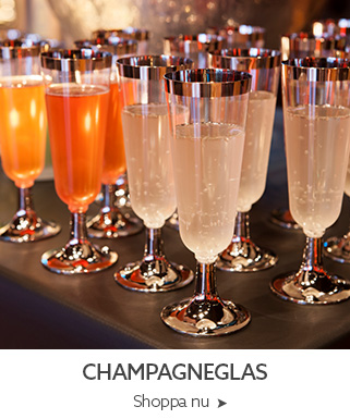 engångs champagneglas